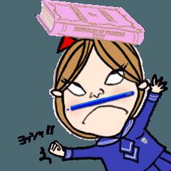 おてんばユリちゃんの1日【セーラー服編】
