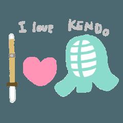 剣道女子&剣道応援ママのスタンプ