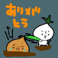 [LINEスタンプ] たまねぎさんとカブちゃん (1)