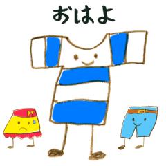 6歳児が描く!ゆかいな洋服たちのスタンプ