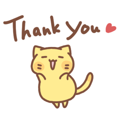 タマの感謝と喜びを伝えるスタンプ