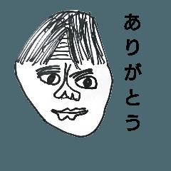 8歳画伯の似顔絵