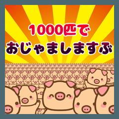 [LINEスタンプ] ぶーぶーちゃん 1000