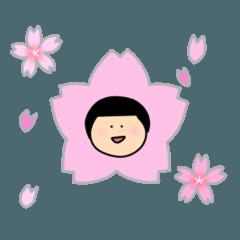 まる顔のマンナちゃん・春