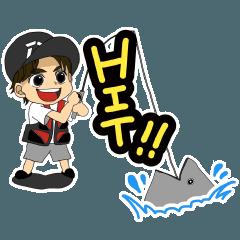 にしやんFishingClubスタンプ!