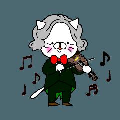 バイオリンを弾くねこ バロン