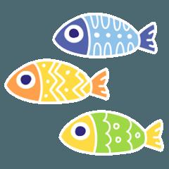 カラフルな魚達