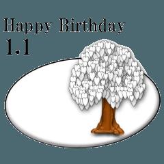 ある木から<1月誕生日>