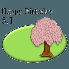 ある木から<5月誕生日>