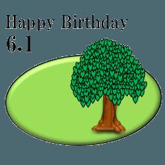 ある木から<6月誕生日>