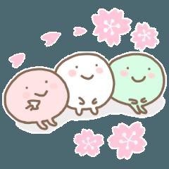 ほんわか3色だんご【春】