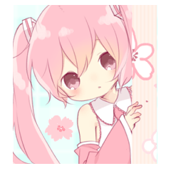 桜色の初音ミク