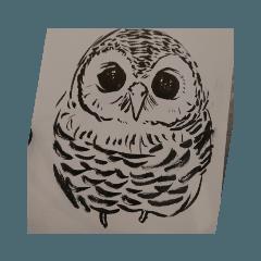 筆ペンフクロウ