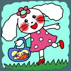 ウサギのうさ子