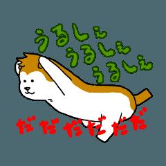 秋田弁を話すあきたんぽ犬、おかわり。