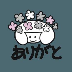 マリン55♡ モノクロお花やハートスタンプ