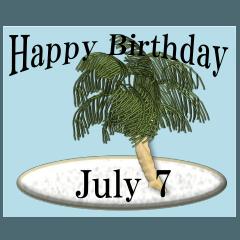 南の島から<7月誕生日>