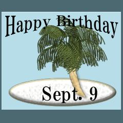 南の島から<9月誕生日>