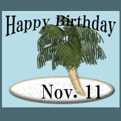 南の島から<11月誕生日>